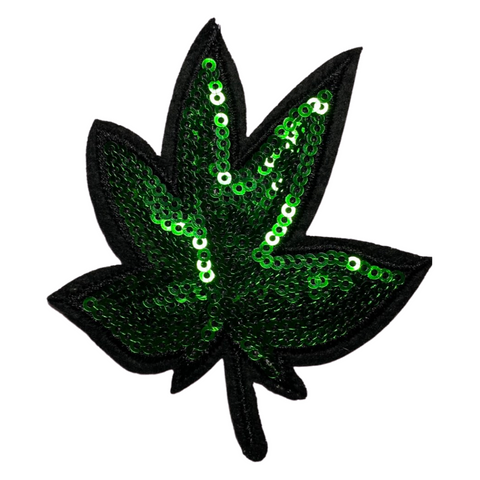 Bedazzled Cannabis Leaf Patch