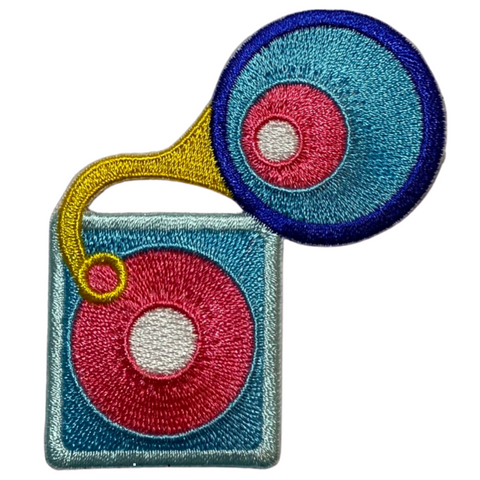 Cute Record Player Patch
