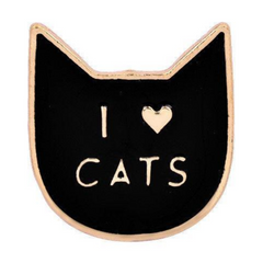 I Love Cats Pin