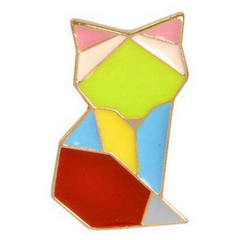 Geometric Cat Pin