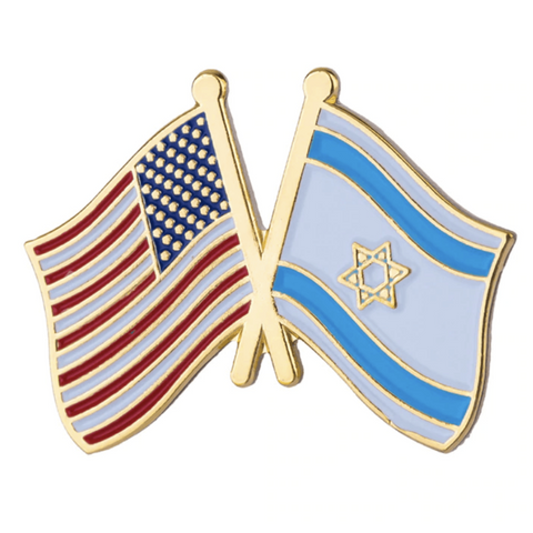 US and Israel Flag Pin