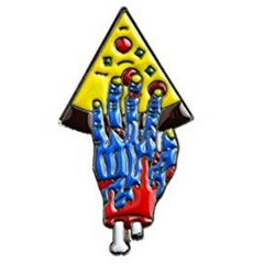 Zombie Hand Pizza Pin