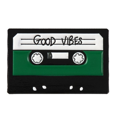 Good Vibes Mix Tape Pin