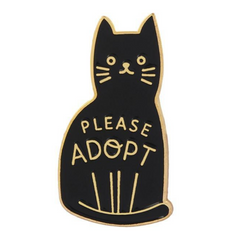 Please Adopt Cat Pin