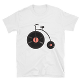 vinyl record bicycle t shirt