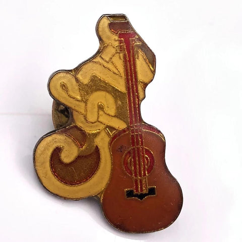 Country Western Guitar Pin