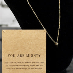 You Are Mighty Charm Necklace