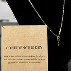 Confidence Is Key Charm Necklace