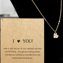 I Love You Charm Necklace
