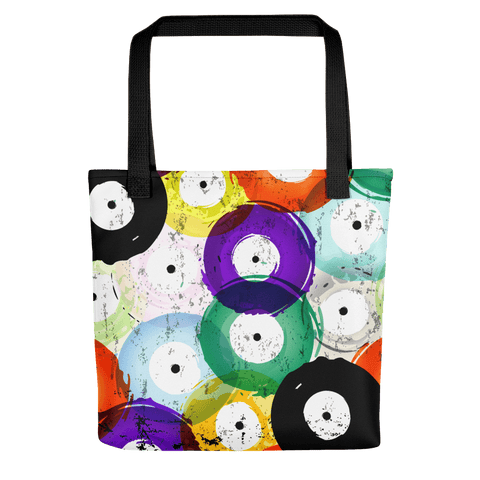 Colored Vinyl Tote Bags