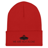 WE ARE NOT ALONE Cuffed Beanie