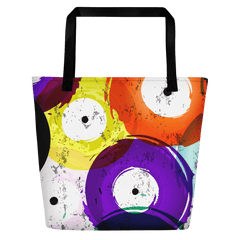 Vinyl Record Beach Bag