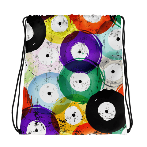 Vinyl Record Drawstring Bag