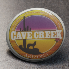 Cave Creek Arizona Button Pin