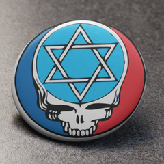 Steal Your Face Star of David Button Pin