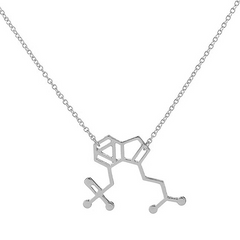 Magic Mushroom Molecule Necklace