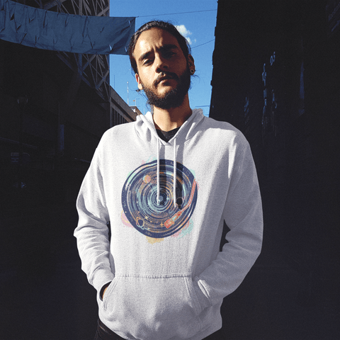 Vinyl System Men's Hooded Sweatshirt