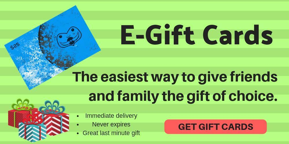 E-GIFT CARDS - GIVE FRIENDS AND FAMILY THE GIFT OF CHOICE.