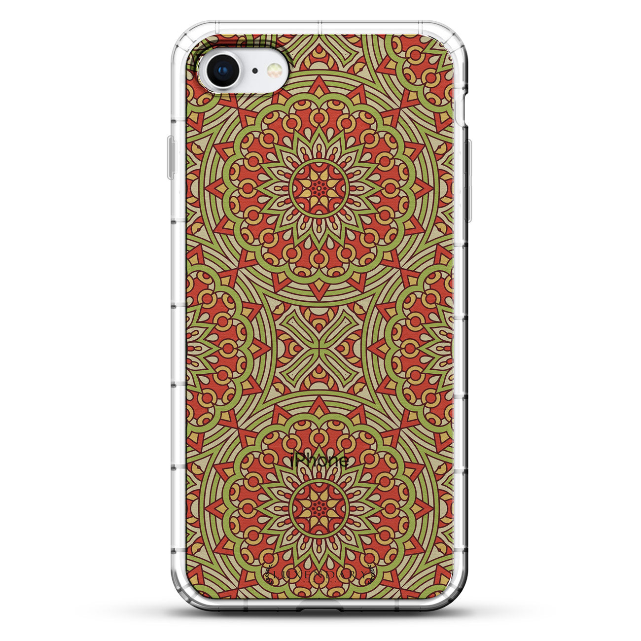 Red & Green Boho Style Pattern
