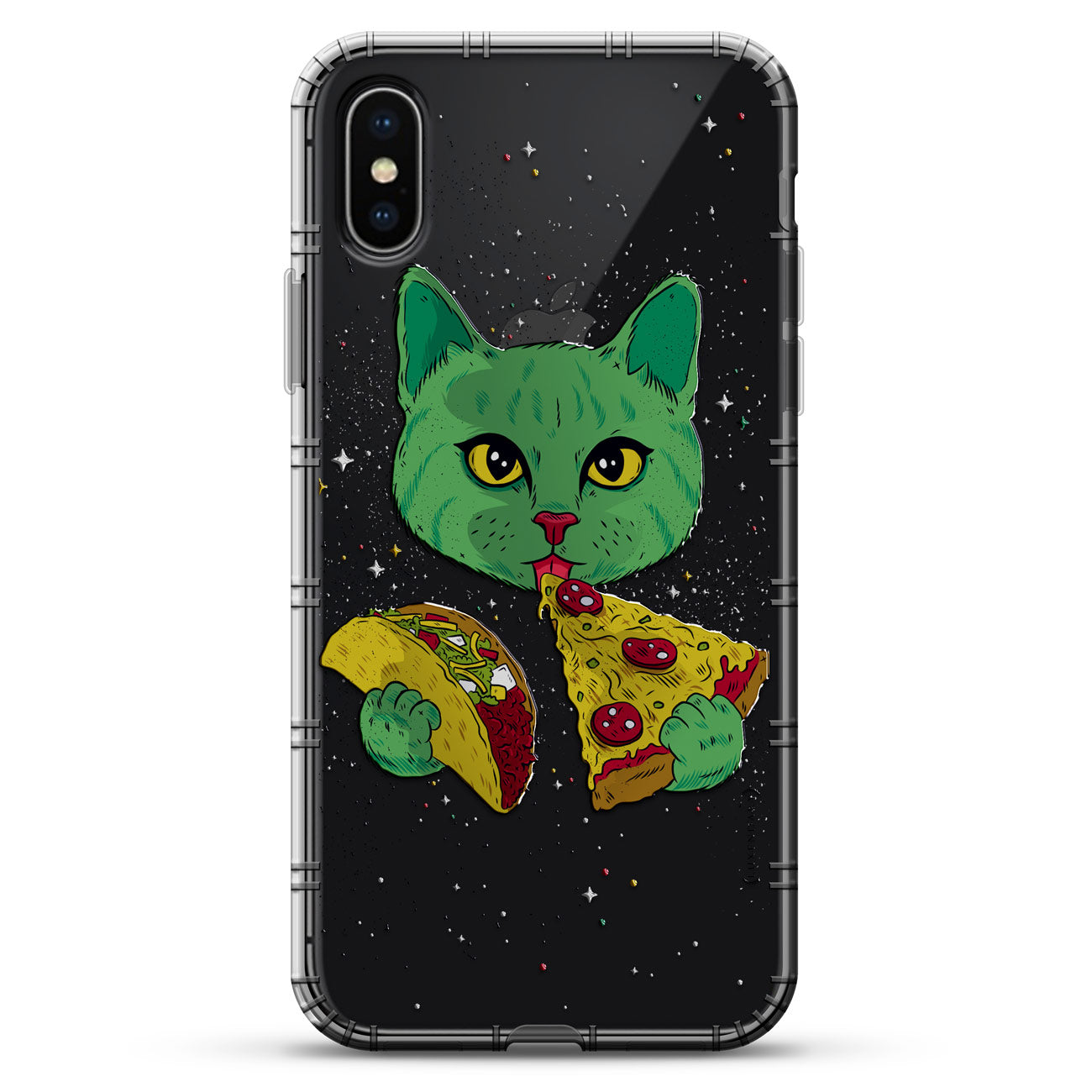 Cat Eating Taco & Pizza