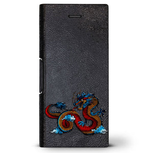 Chinese Dragon 2 | Leather Series case for iPhone 8/7/6/6s in Hickory Black