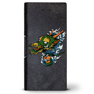 Chinese Dragon 4 | Leather Series case for iPhone 8/7/6/6s in Hickory Black