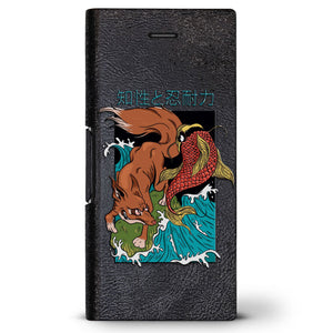 Chinese Fox Design | Leather Series case for iPhone 8/7/6/6s in Hickory Black