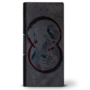 Thermal Artistic Girl Design | Leather Series case for iPhone 8/7/6/6s in Hickory Black