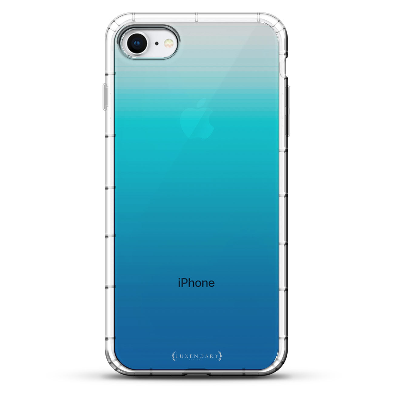 Translucent Gradient Turquois Blue