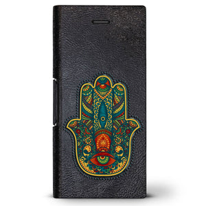 Colorful Hamsa | Leather Series case for iPhone 8/7/6/6s in Hickory Black