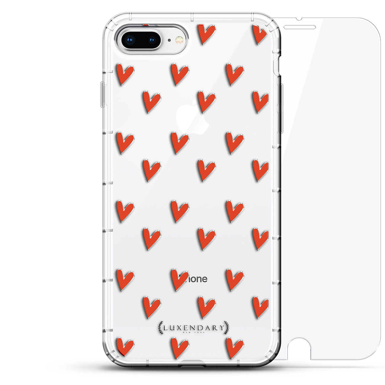 Cute Red Hearts Pattern