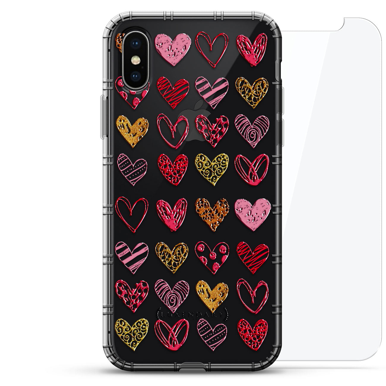 Black & White Hearts Pattern