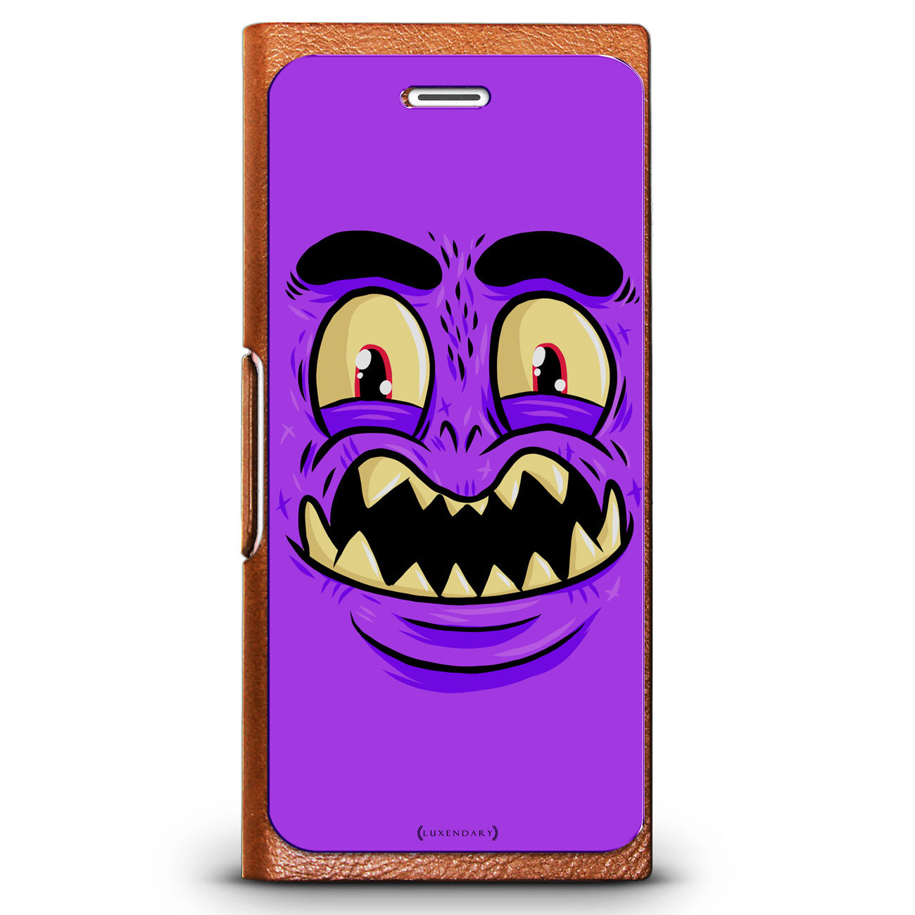Purple Monster with Sharp Teeth