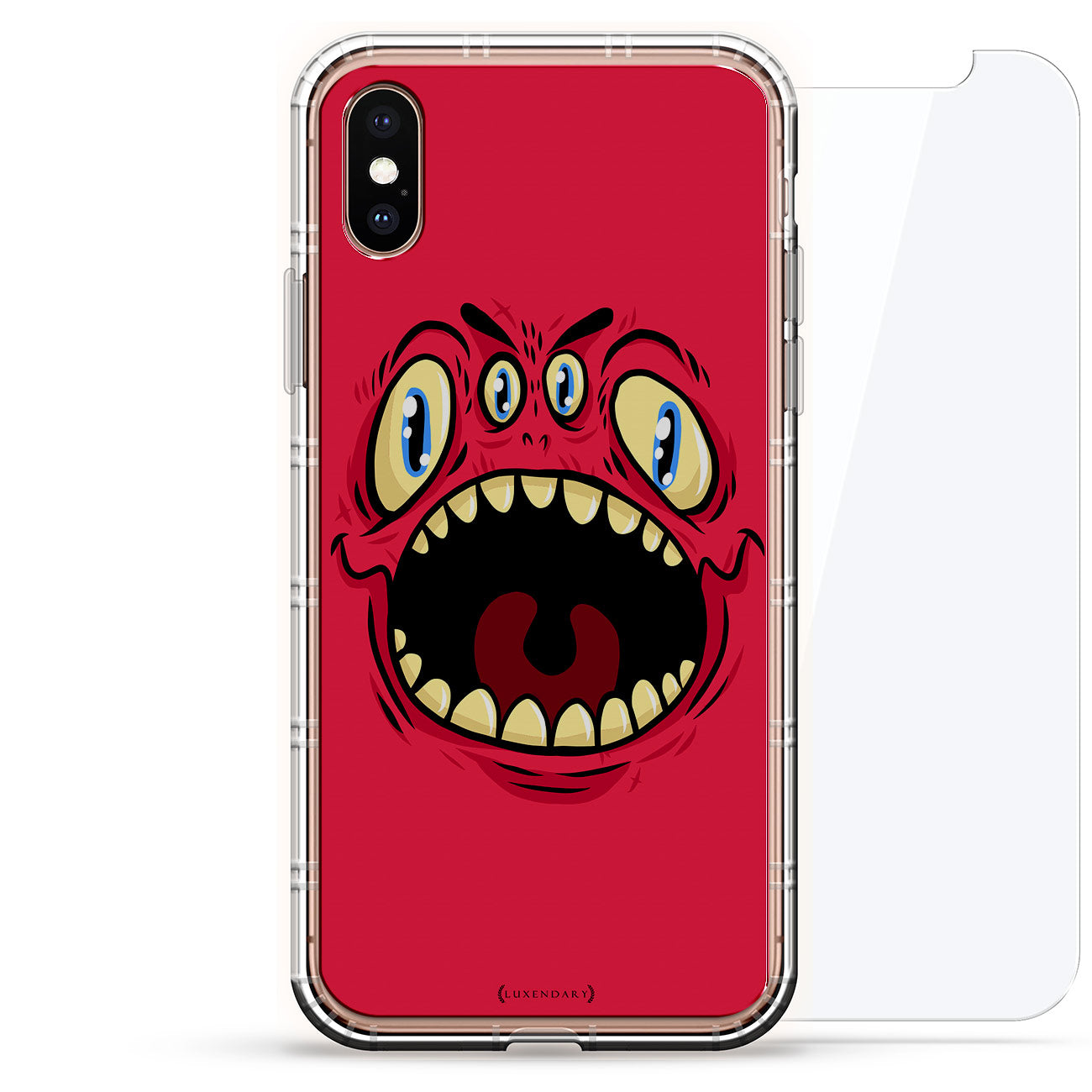 Red Four-Eyed Screaming Monster