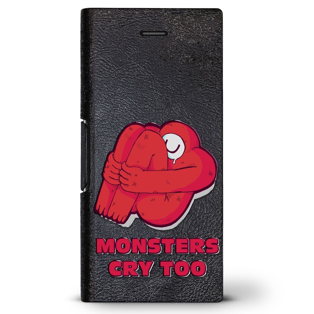 Cute Red Monster Quote