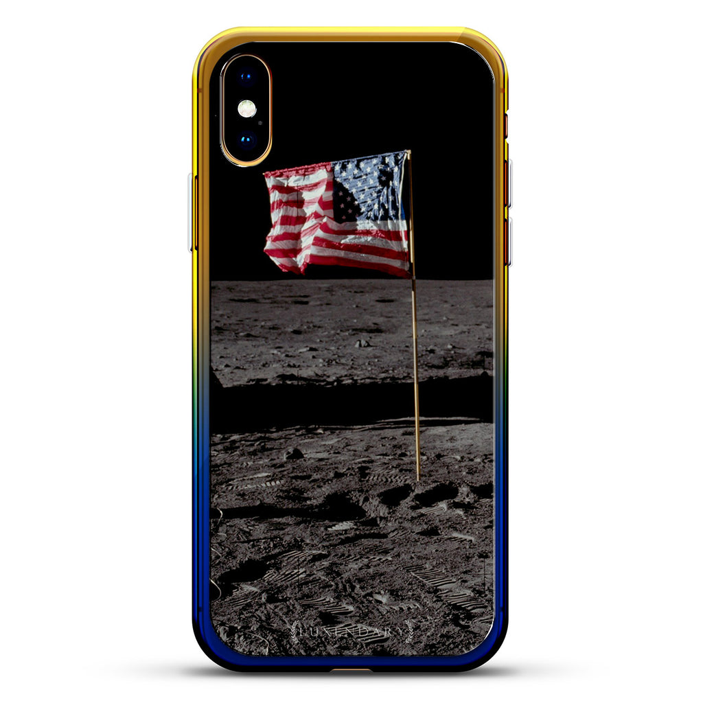 SPACE: USA FLAG THE MOON