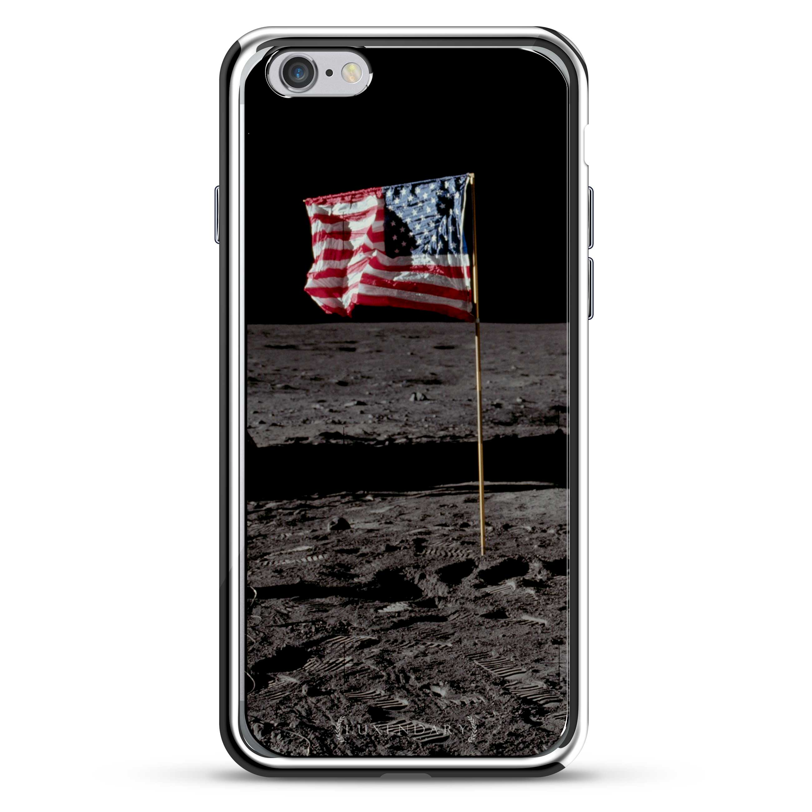 Usa Flag on The Moon