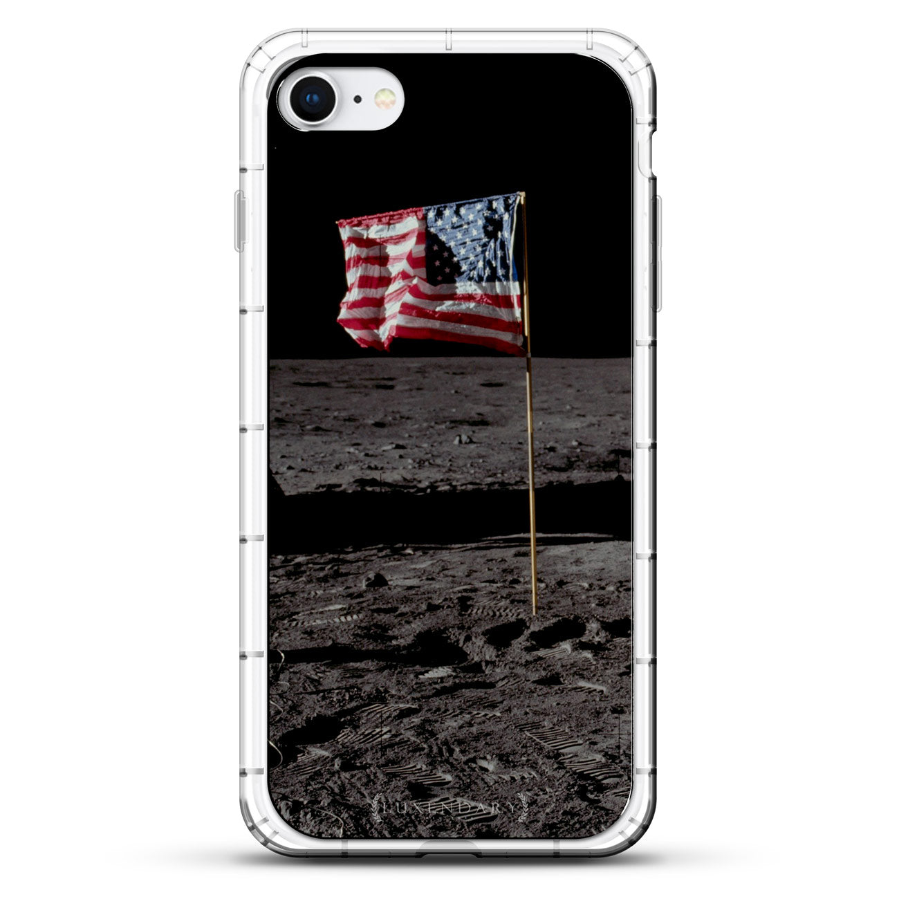 Usa Flag The Moon