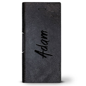 Adam, Hand-Written First Name | Leather Series case for iPhone 8/7/6/6s in Hickory Black