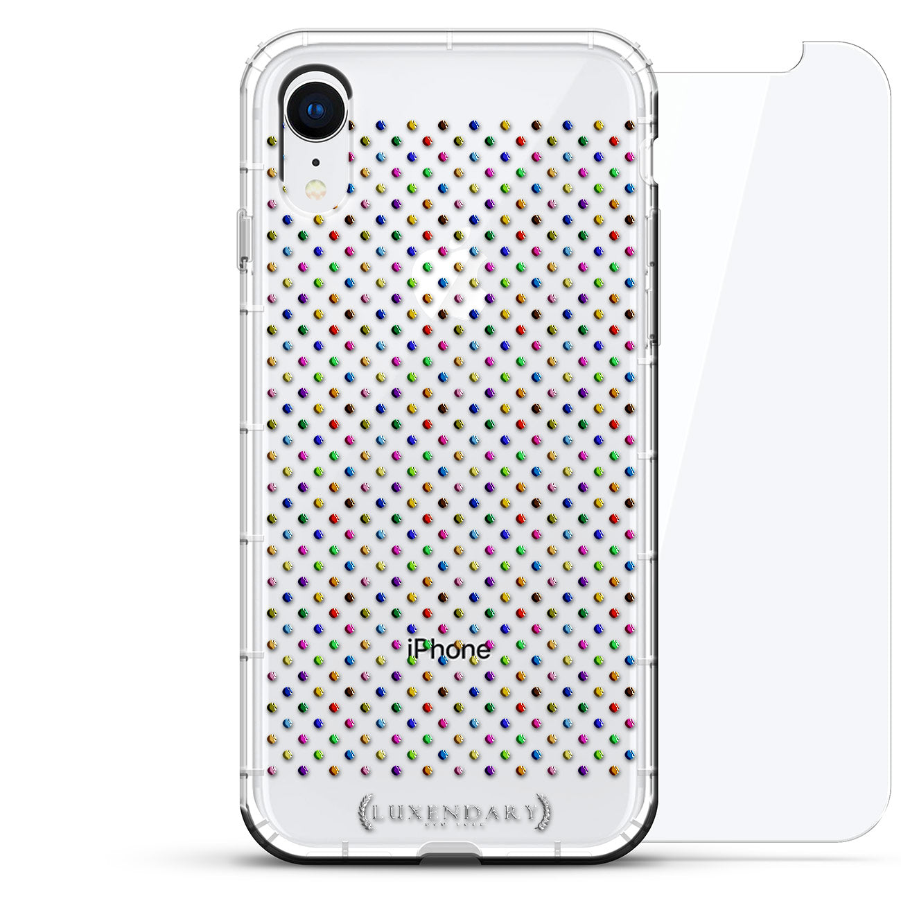 Confetti Colorful Centered Polka Dot Pattern