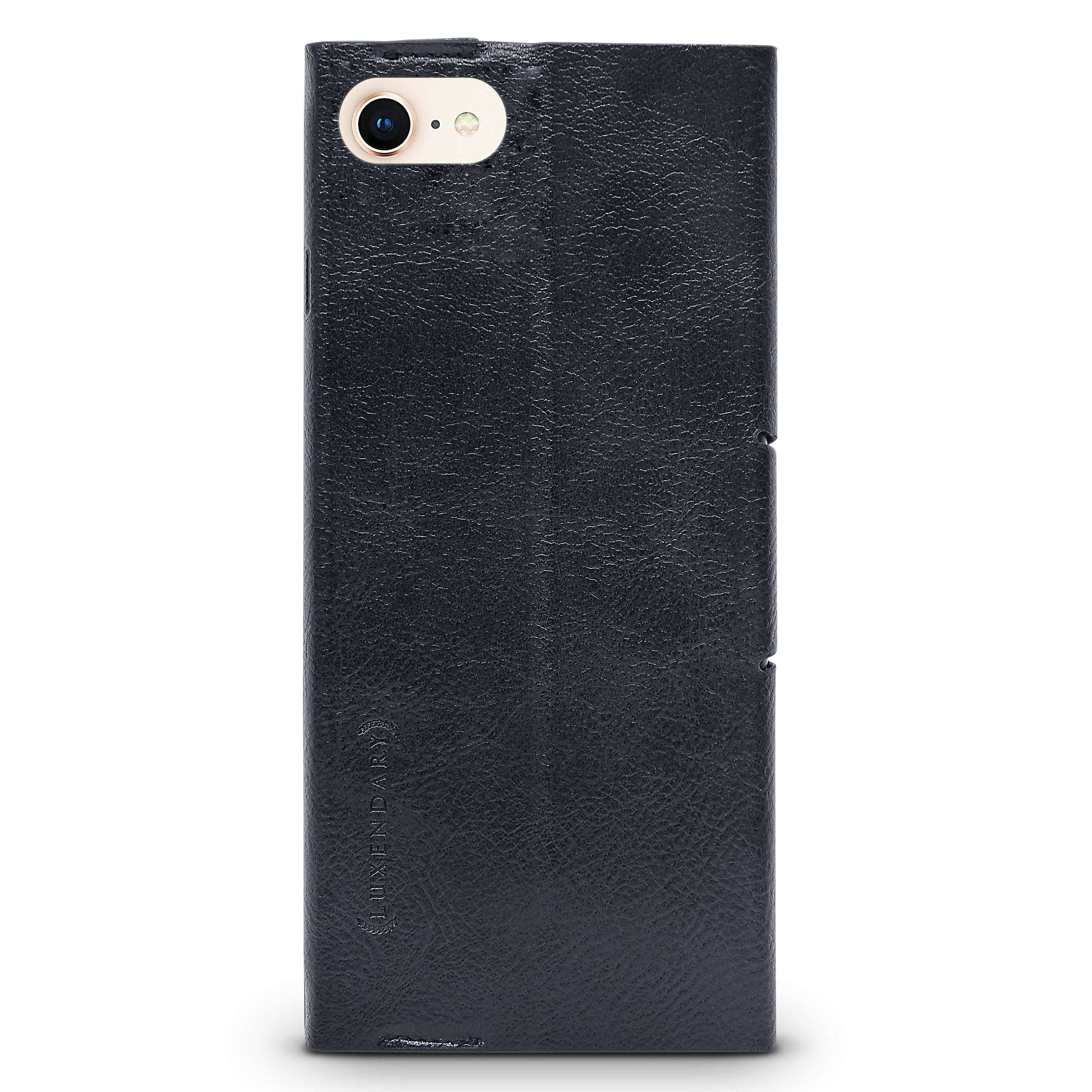 Industrial Skyline | Leather Series case for iPhone 8/7/6/6s in Hickory Black