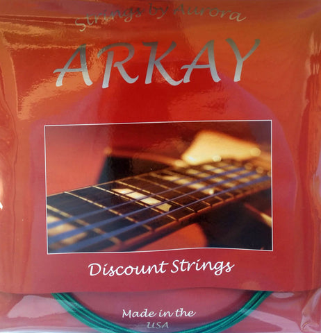 Arkay Standard Acoustic Guitar Strings by Aurora, 12