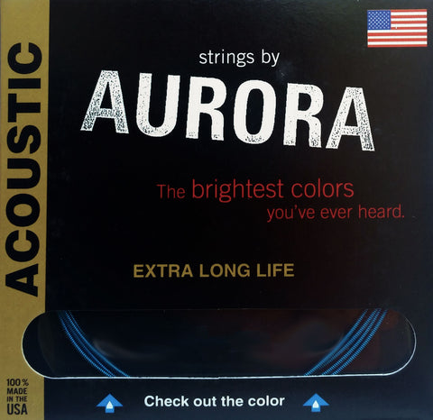 Aurora Premium Acoustic Guitar Strings Medium-Light, 11 | 15 | 22 | 30 | 40 | 50