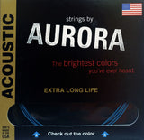 Aurora Premium Acoustic Guitar Strings Light, 10 | 14 | 22 | 30 | 38 | 48