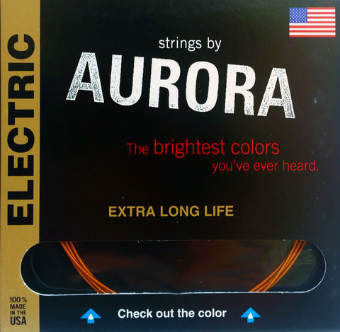 Aurora Premium Electric Guitar Strings Light-Heavy, 09 | 11 | 16 | 26 | 36 | 46