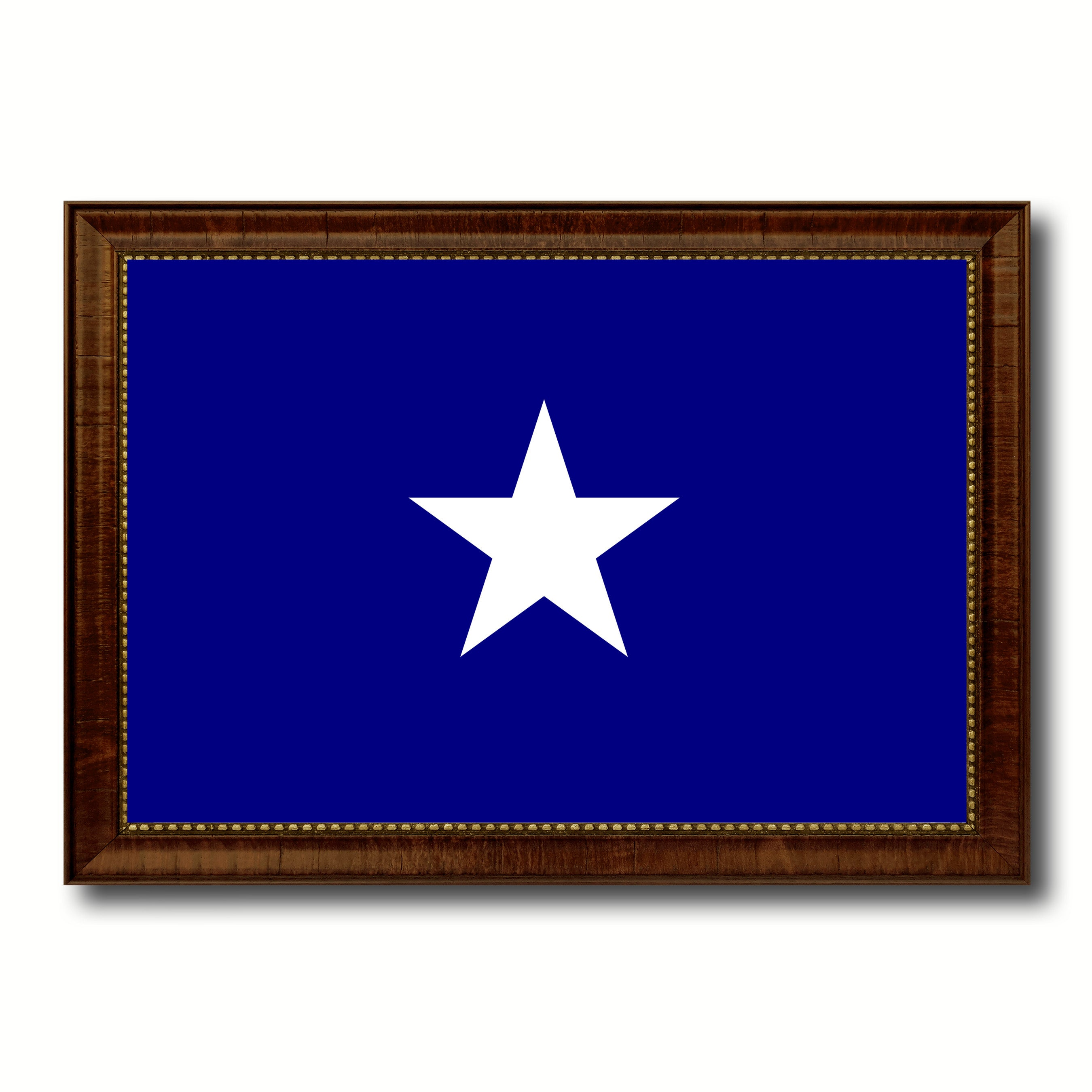 Bonnie Blue in Republic of West Florida Military Flag Canvas Print with Brown Picture Frame Home Decor Wall Art Gift Ideas