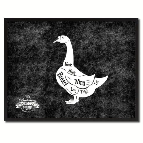 Goose Meat Cuts Butchers Chart Canvas Print Picture Frame Home Decor Wall Art Gifts
