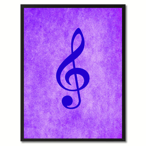 Treble Music Purple Canvas Print Pictures Frames Office Home Décor Wall Art Gifts