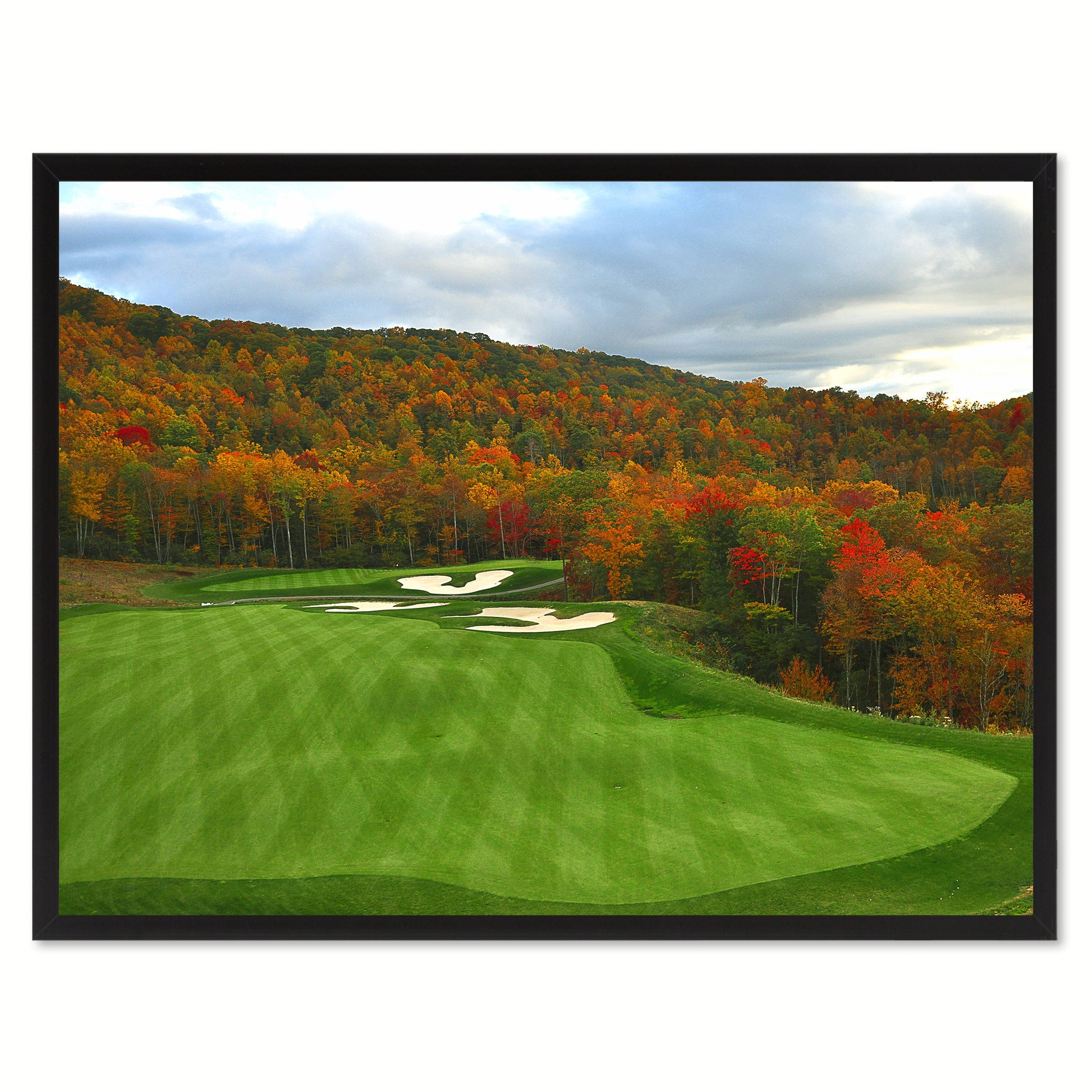 Nestled Golf Course Photo Canvas Print Pictures Frames Home Décor Wall Art Gifts