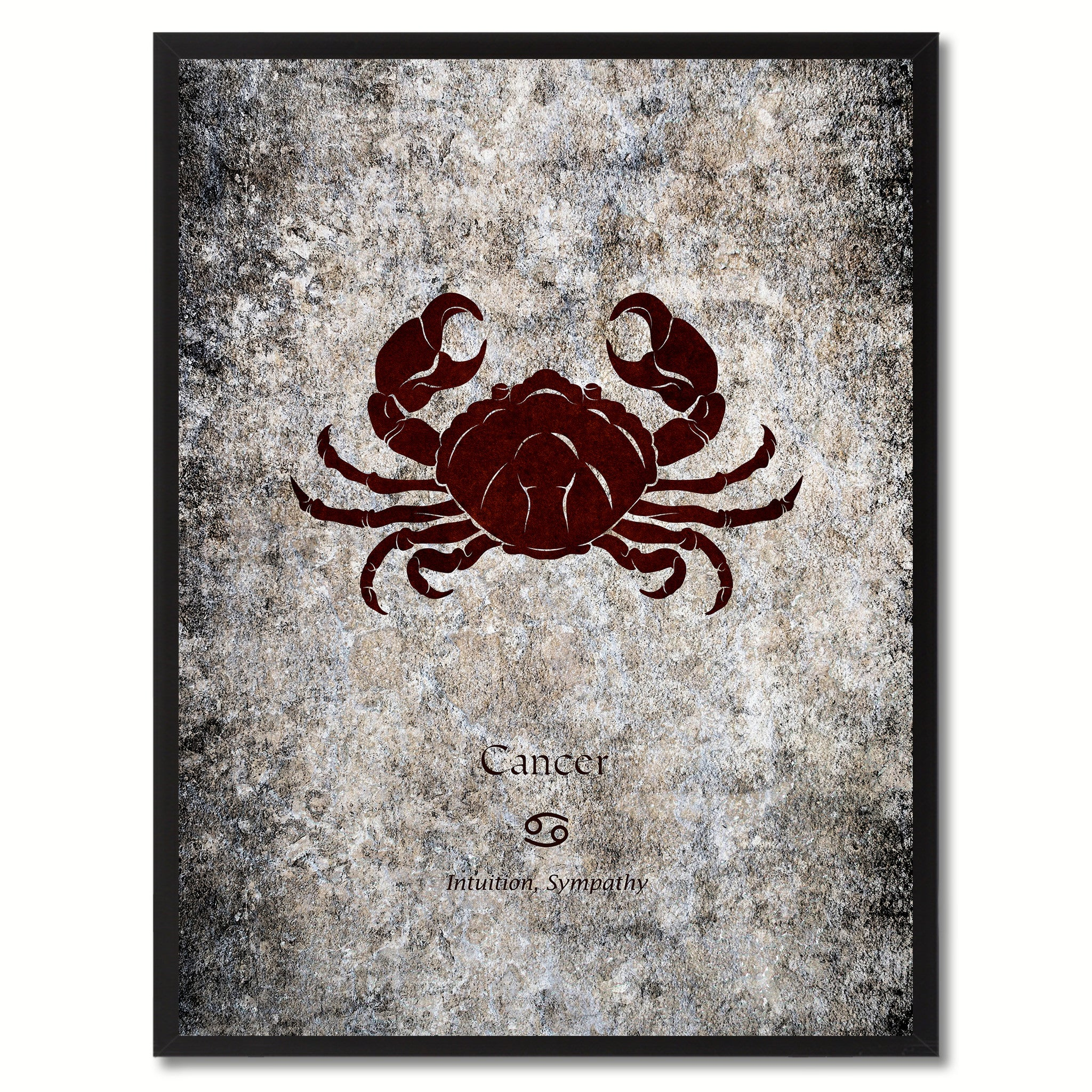 Zodiac cancer horoscope astrology canvas print picture frame home decor wall art gift